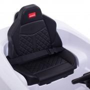 Der Sitz und Sicherheitsgurt